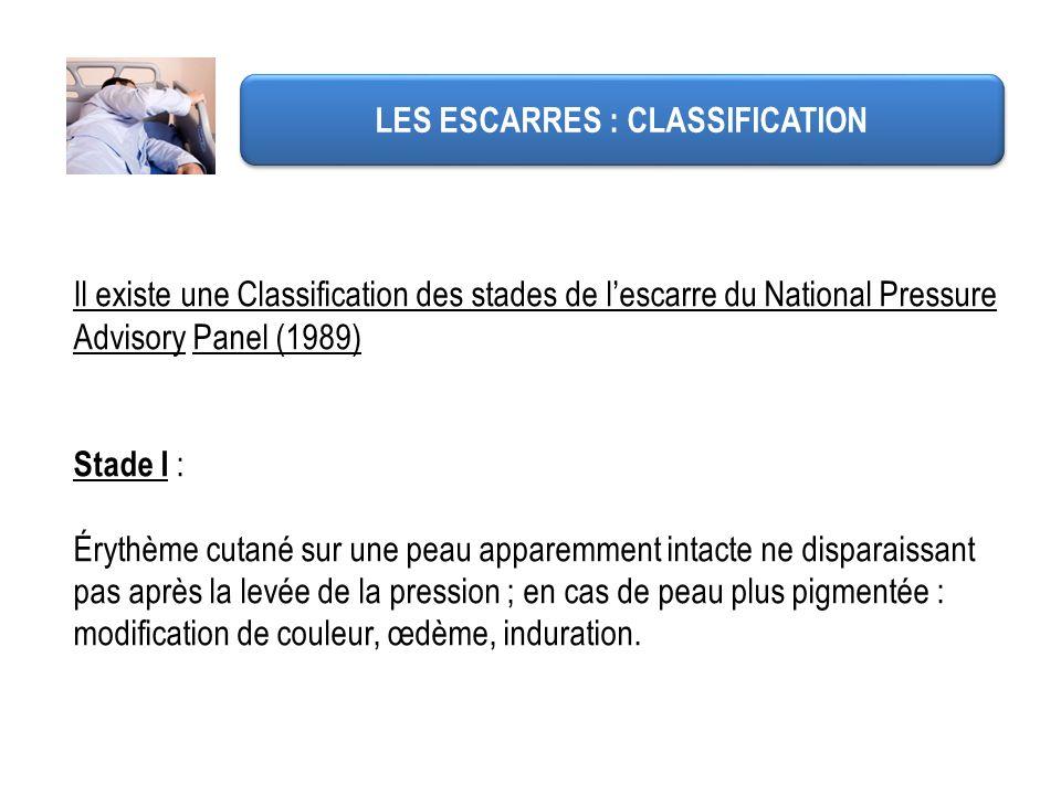 LES ESCARRES : CLASSIFICATION
