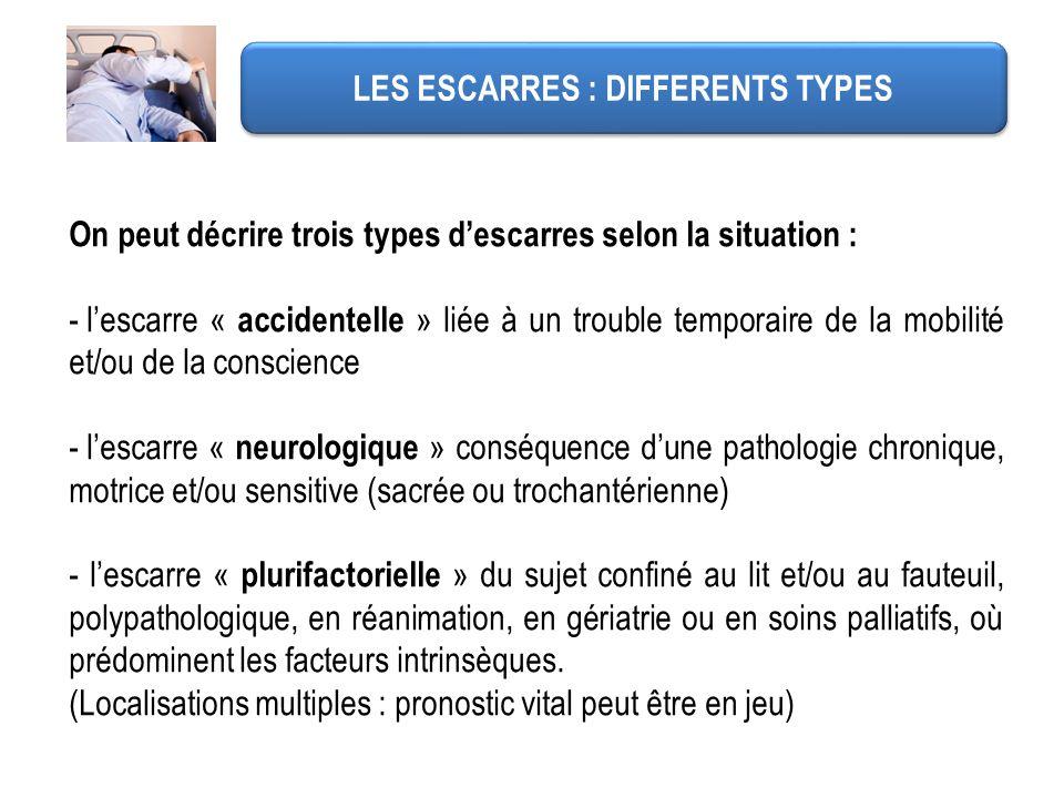 LES ESCARRES : DIFFERENTS TYPES