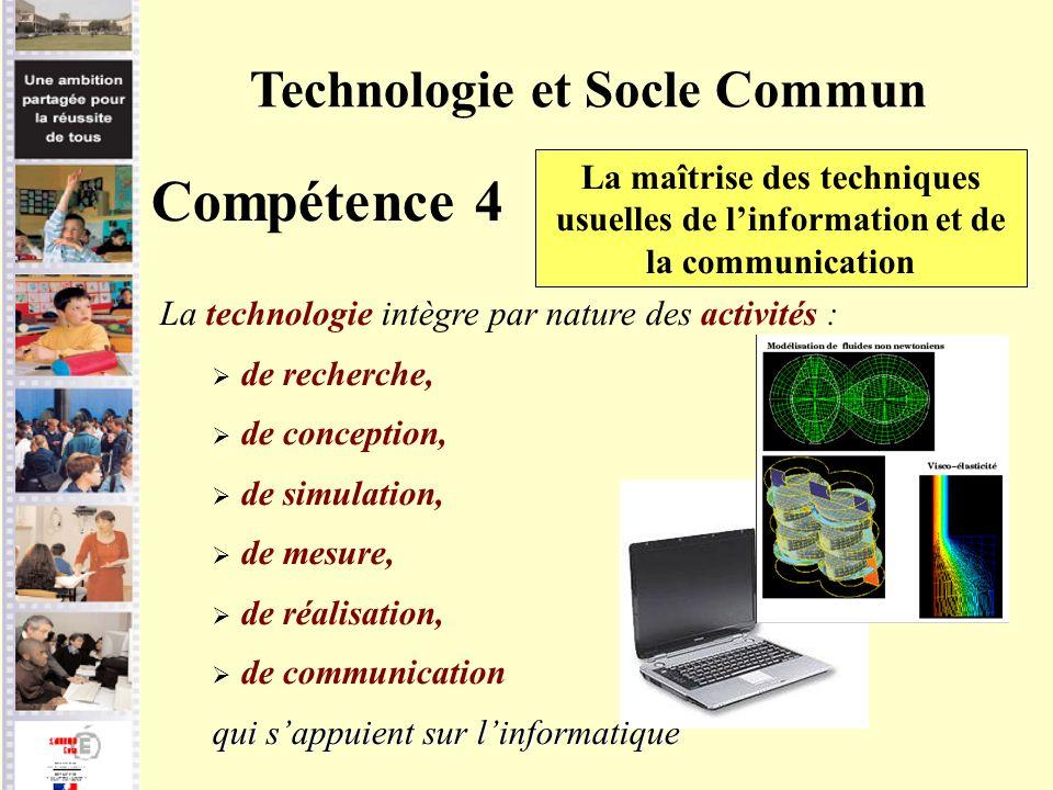 Technologie et Socle Commun