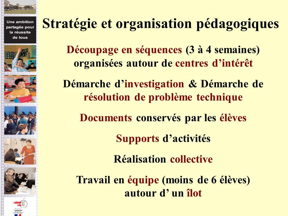 Stratégie et organisation pédagogiques