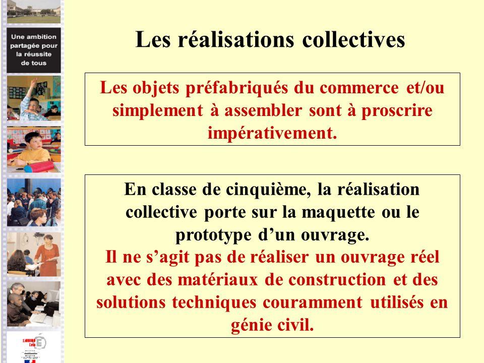 Les réalisations collectives