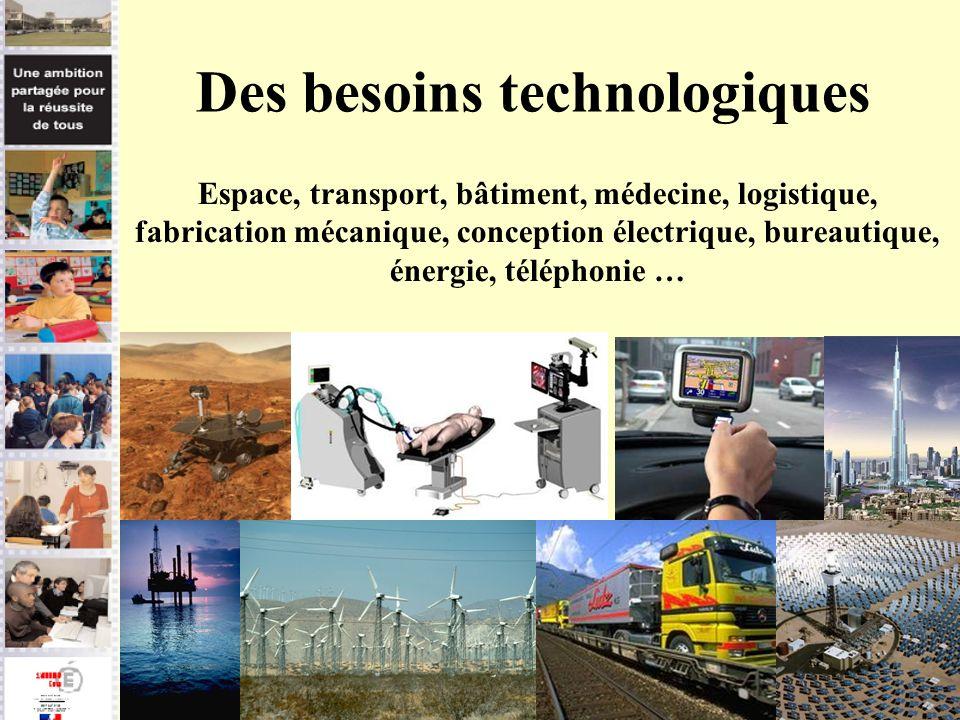 Des besoins technologiques
