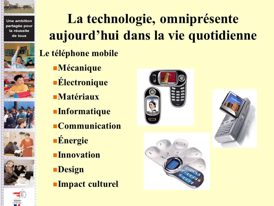 La technologie, omniprésente aujourd'hui dans la vie quotidienne