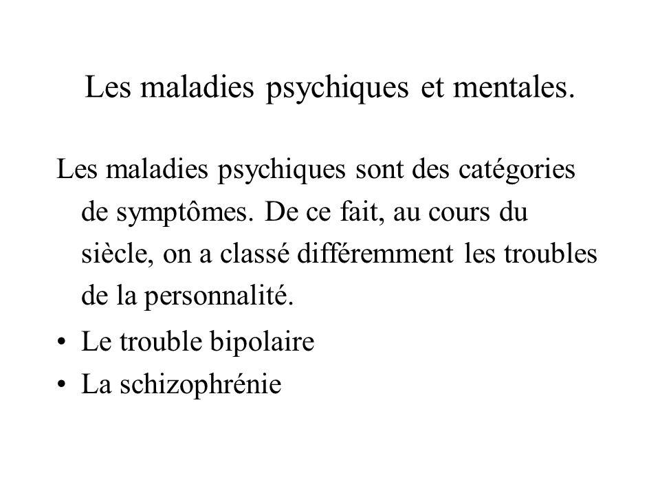 Les maladies psychiques et mentales.
