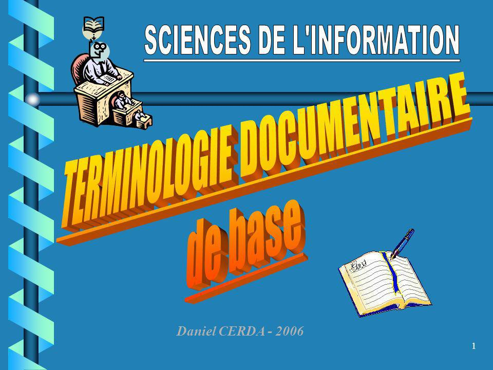 SCIENCES DE L INFORMATION