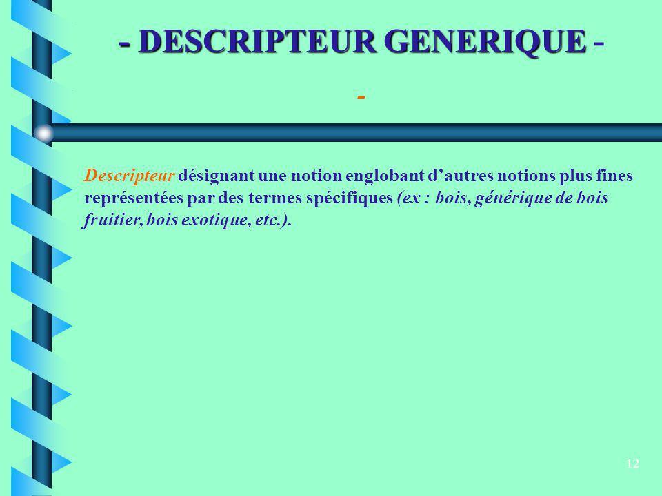 - DESCRIPTEUR GENERIQUE -
