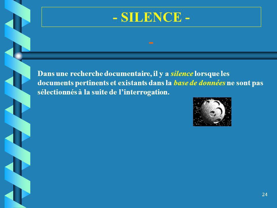 - SILENCE - -