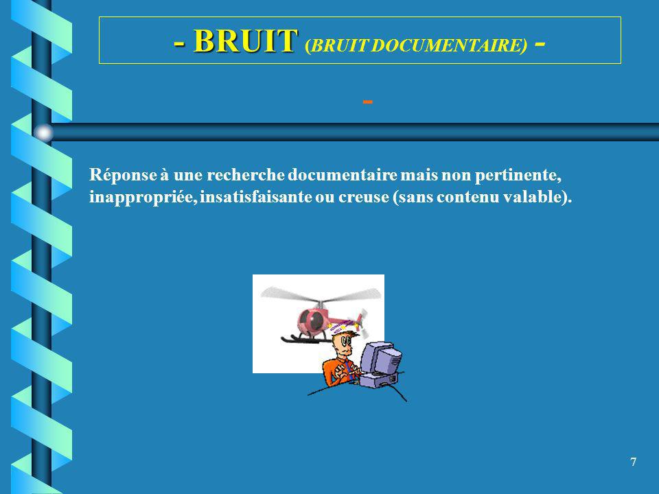 - BRUIT (BRUIT DOCUMENTAIRE) -