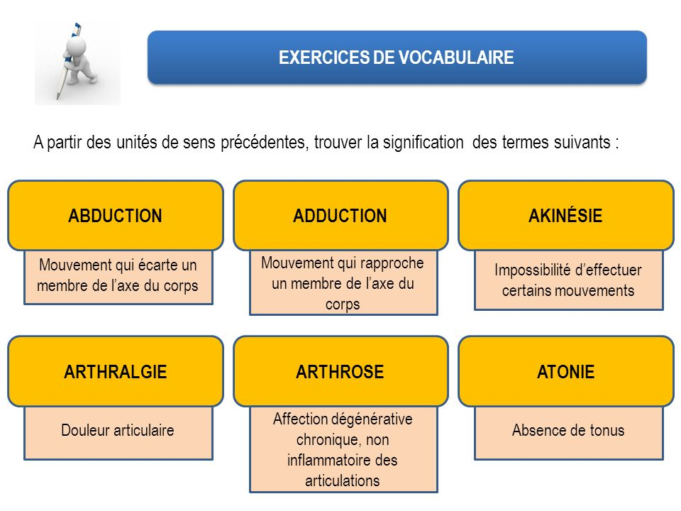 EXERCICES DE VOCABULAIRE