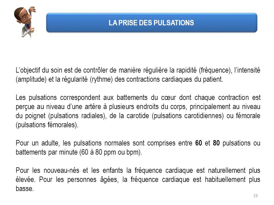 LA PRISE DES PULSATIONS