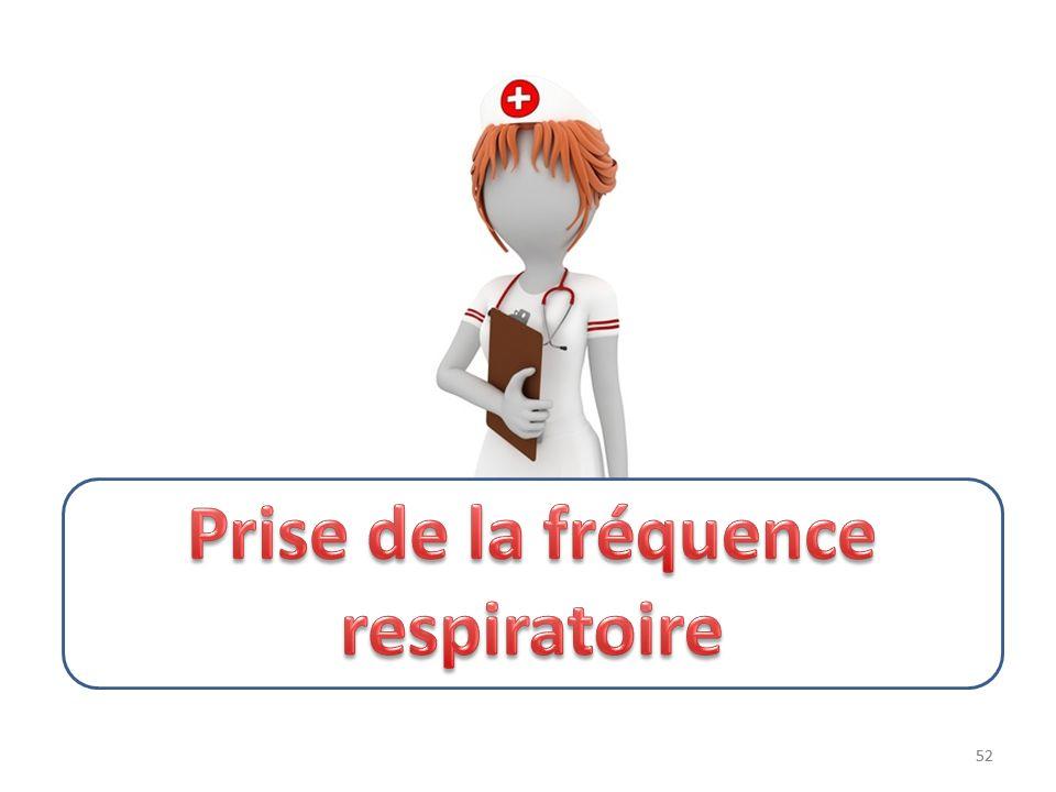 Prise de la fréquence respiratoire