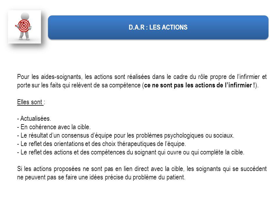 D.A.R : LES ACTIONS