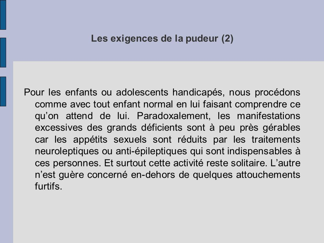Les exigences de la pudeur (2)