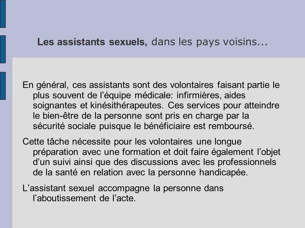 Les assistants sexuels, dans les pays voisins...