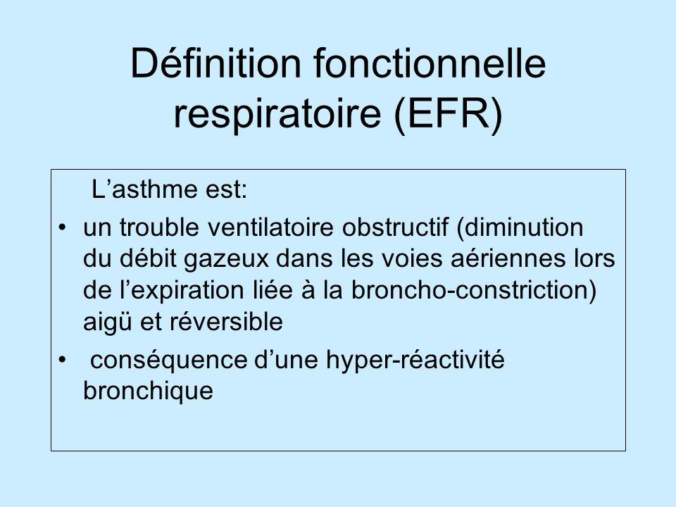 Définition fonctionnelle respiratoire (EFR)