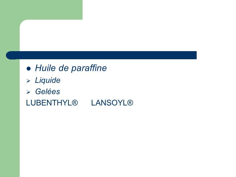 Huile de paraffine Liquide Gelées LUBENTHYL® LANSOYL®