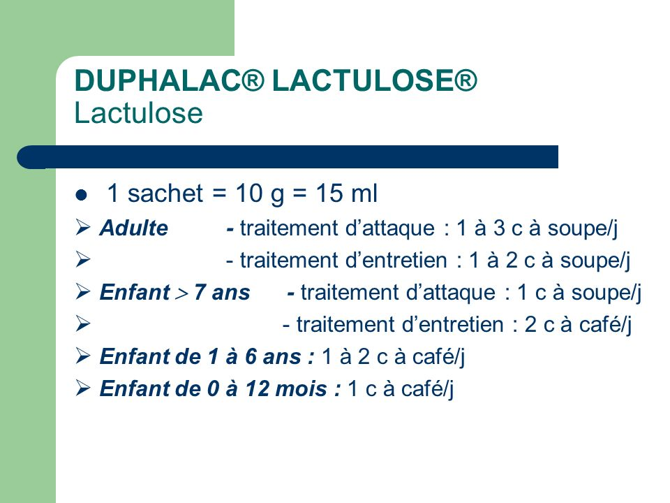 DUPHALAC® LACTULOSE® Lactulose