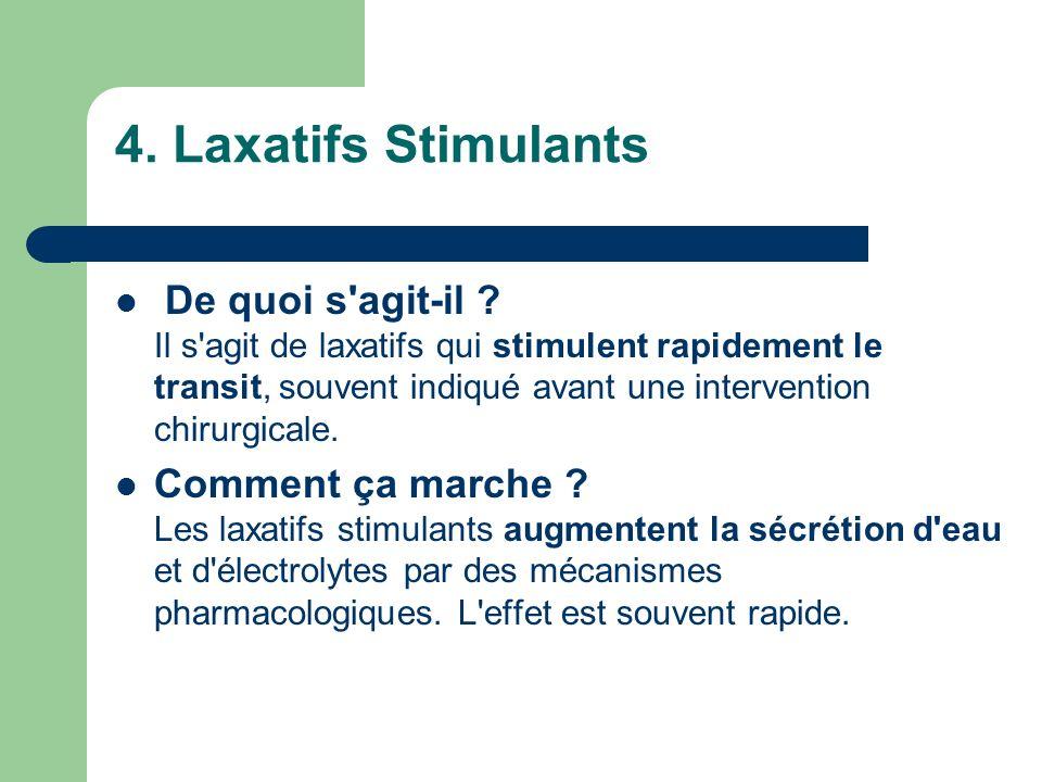 4. Laxatifs Stimulants