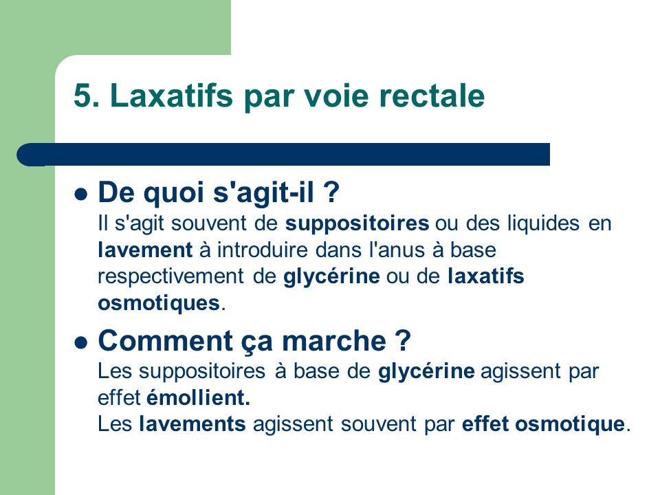 5. Laxatifs par voie rectale