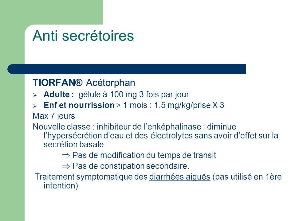 Anti secrétoires TIORFAN® Acétorphan