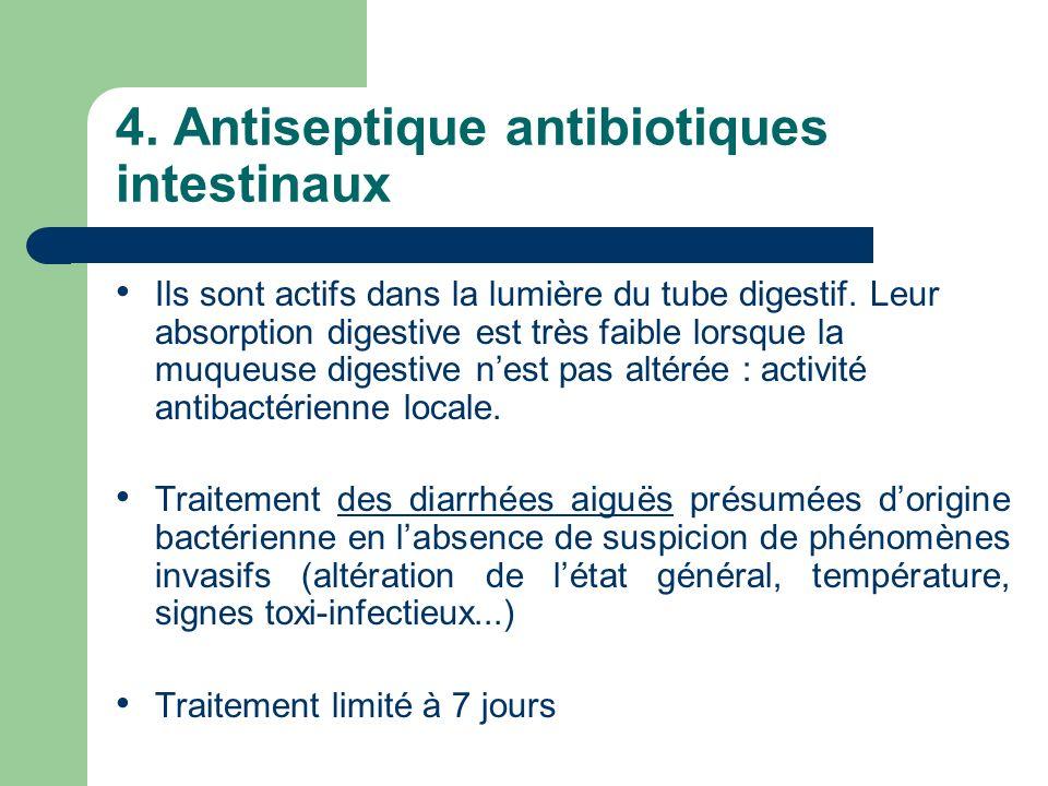 4. Antiseptique antibiotiques intestinaux