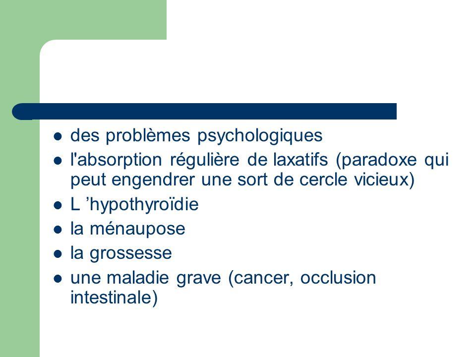 des problèmes psychologiques