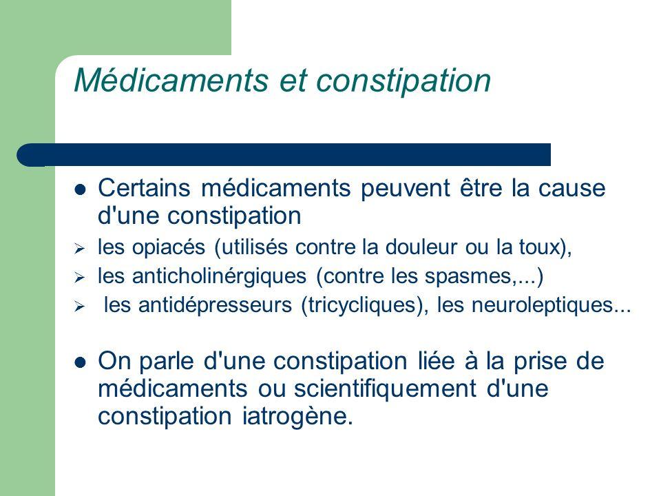 Médicaments et constipation
