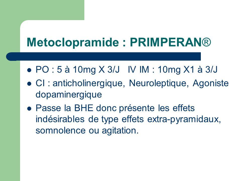 Metoclopramide : PRIMPERAN®