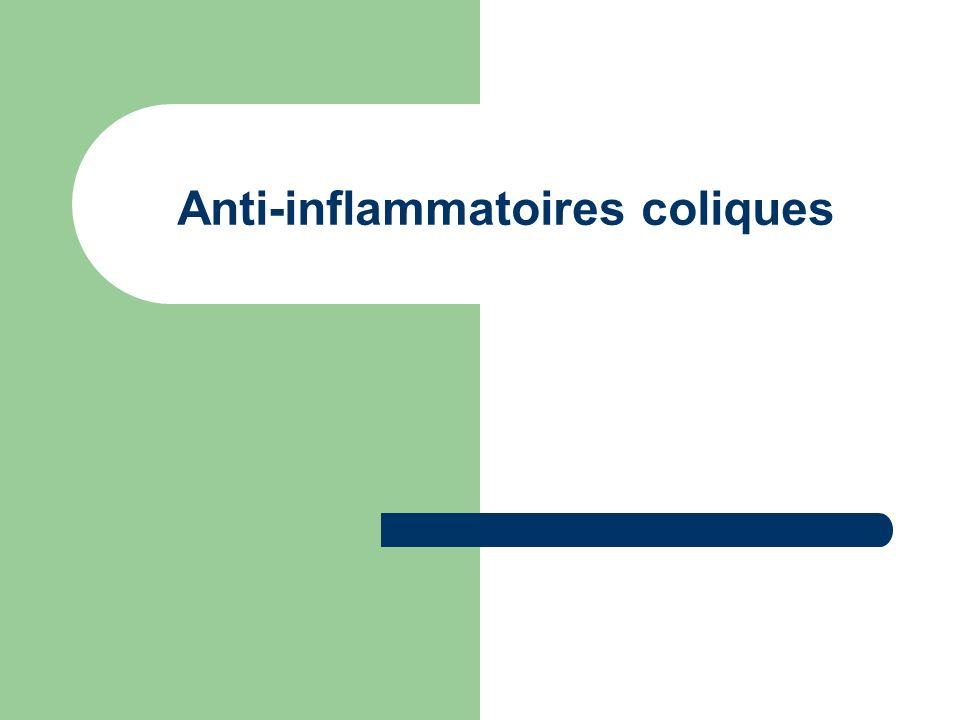 Anti-inflammatoires coliques
