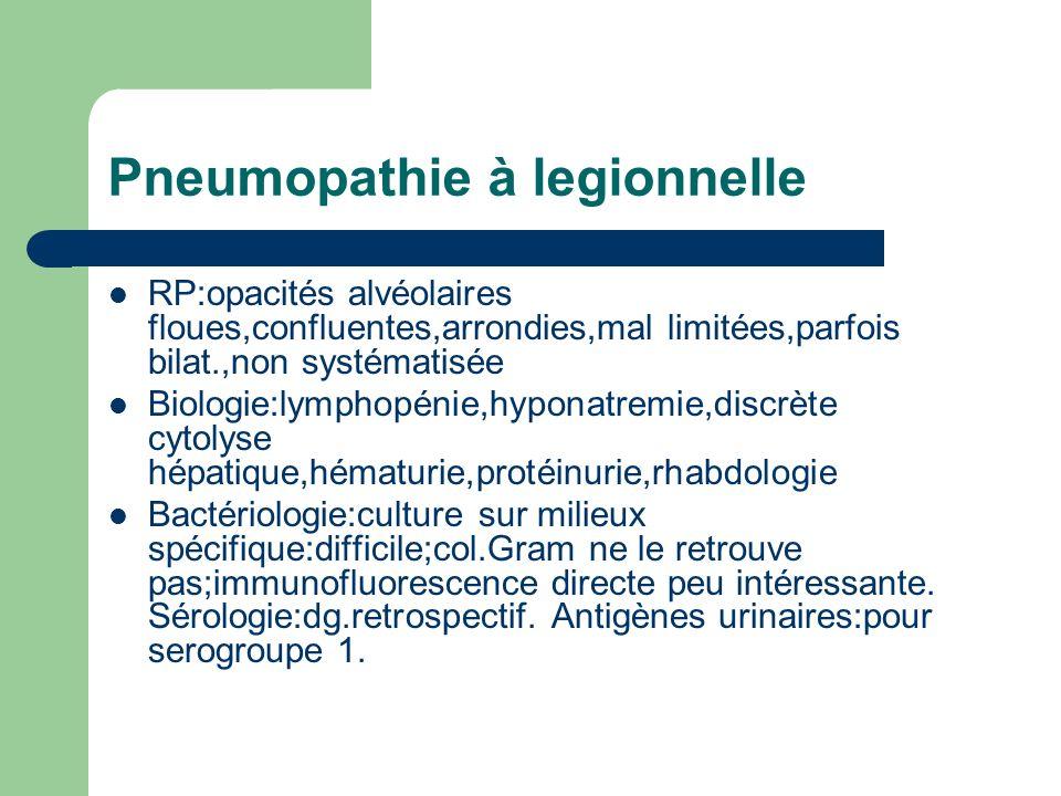 Pneumopathie à legionnelle