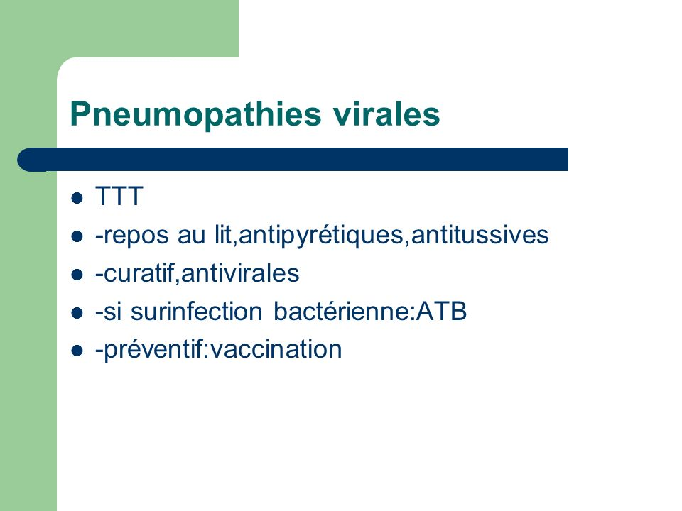 Pneumopathies virales