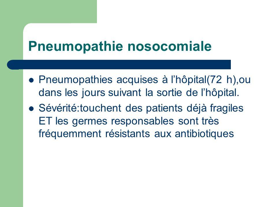 Pneumopathie nosocomiale