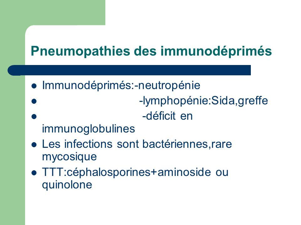 Pneumopathies des immunodéprimés