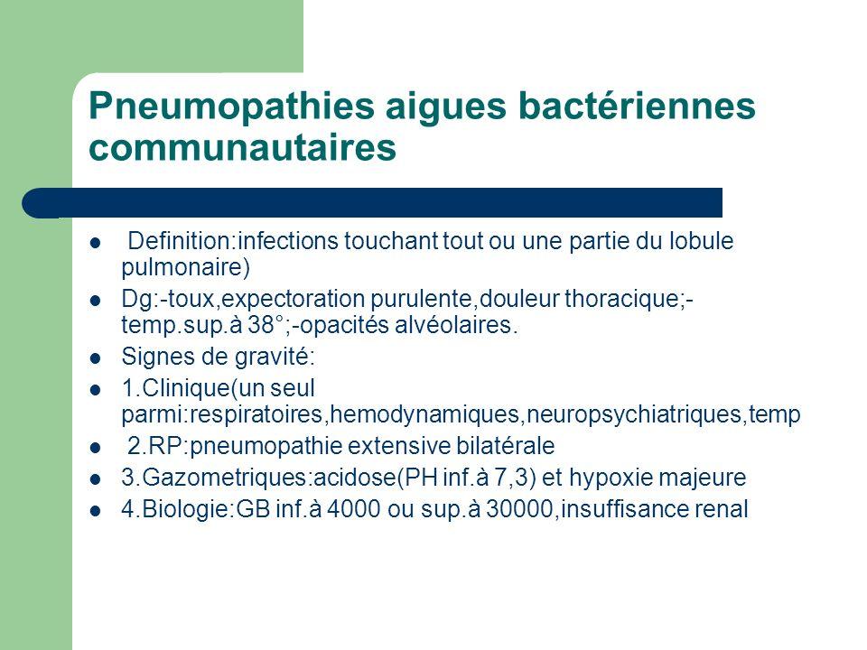Pneumopathies aigues bactériennes communautaires