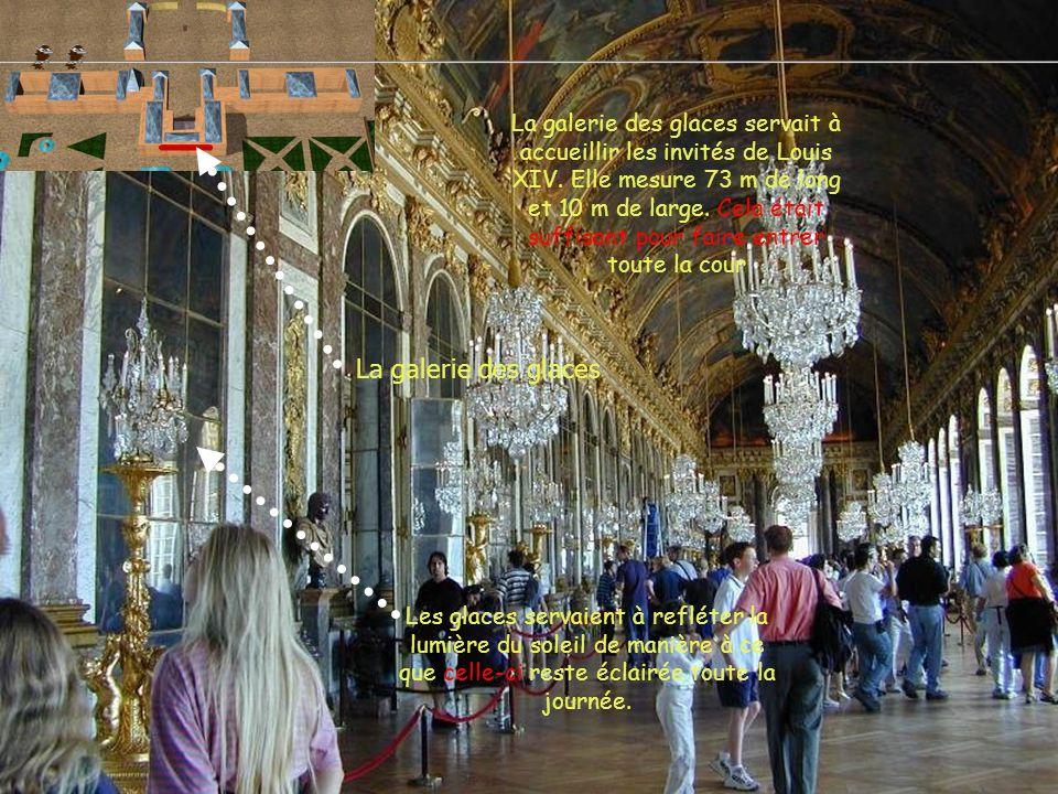 La galerie des glaces servait à accueillir les invités de Louis XIV