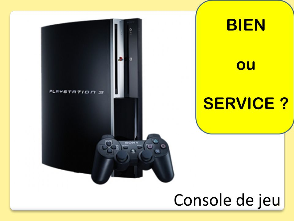 BIEN ou SERVICE Console de jeu 12