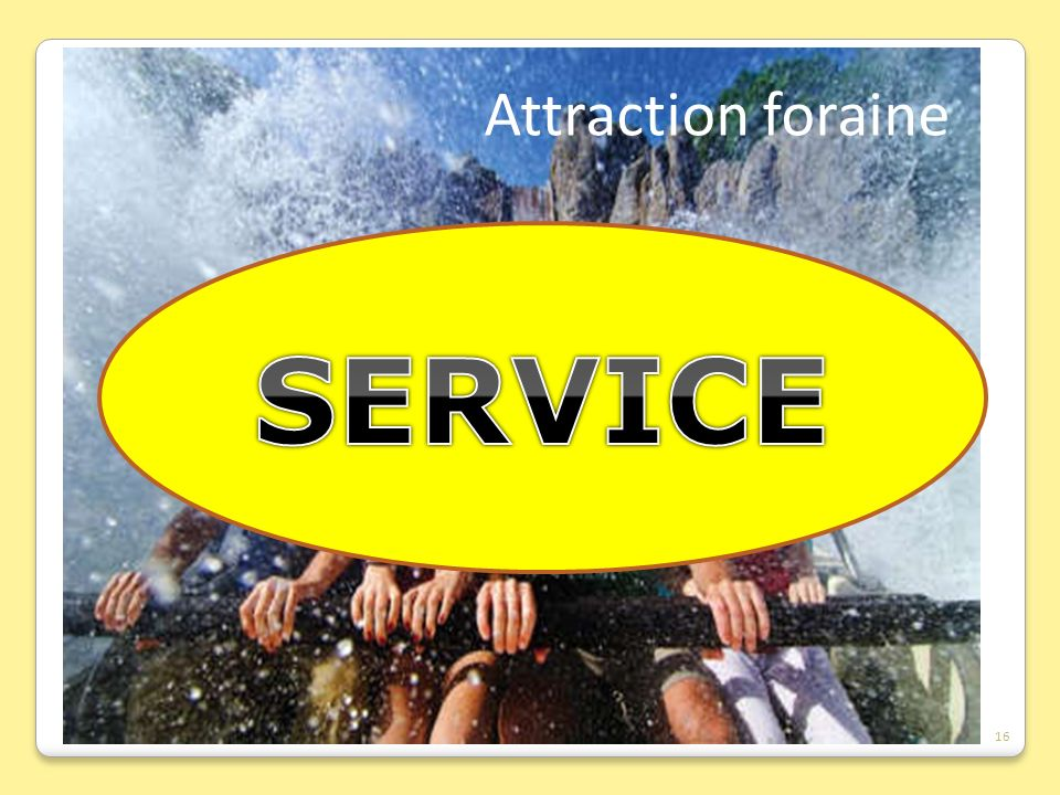 Attraction foraine SERVICE 16