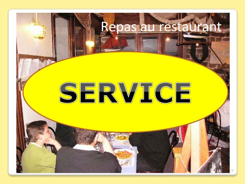 Repas au restaurant SERVICE 19
