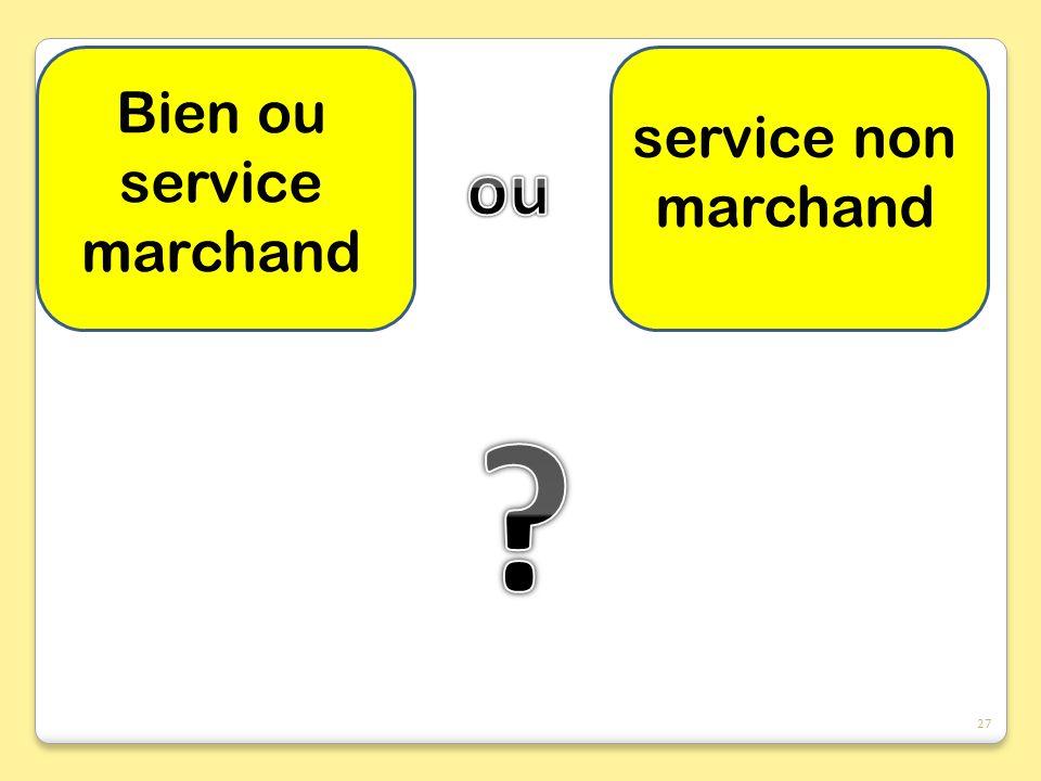 Bien ou service marchand