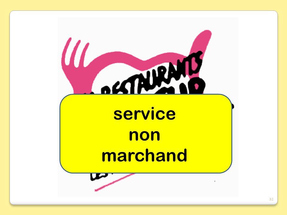 service non marchand
