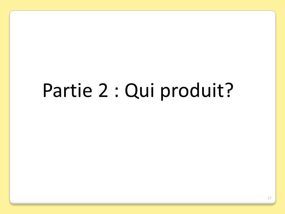 Partie 2 : Qui produit