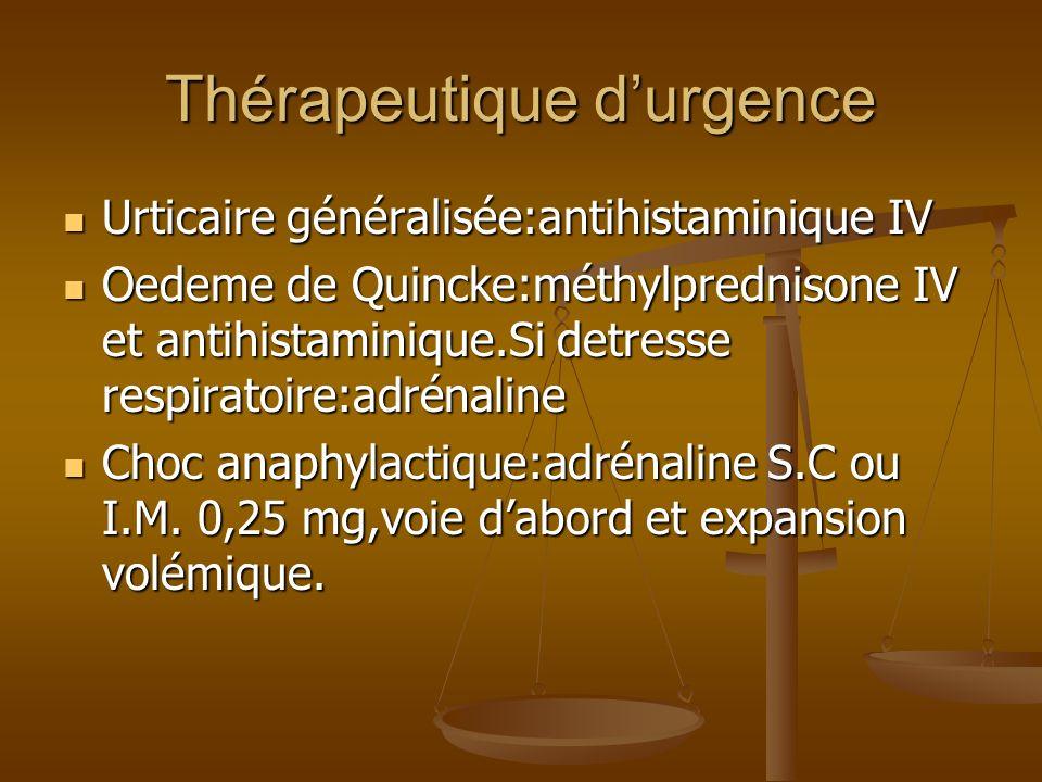 Thérapeutique d'urgence