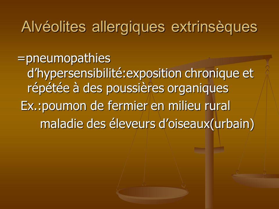 Alvéolites allergiques extrinsèques