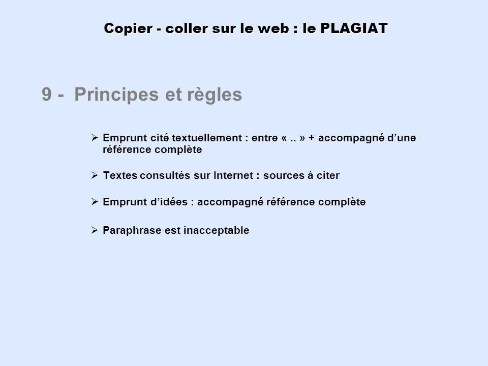 Copier - coller sur le web : le PLAGIAT