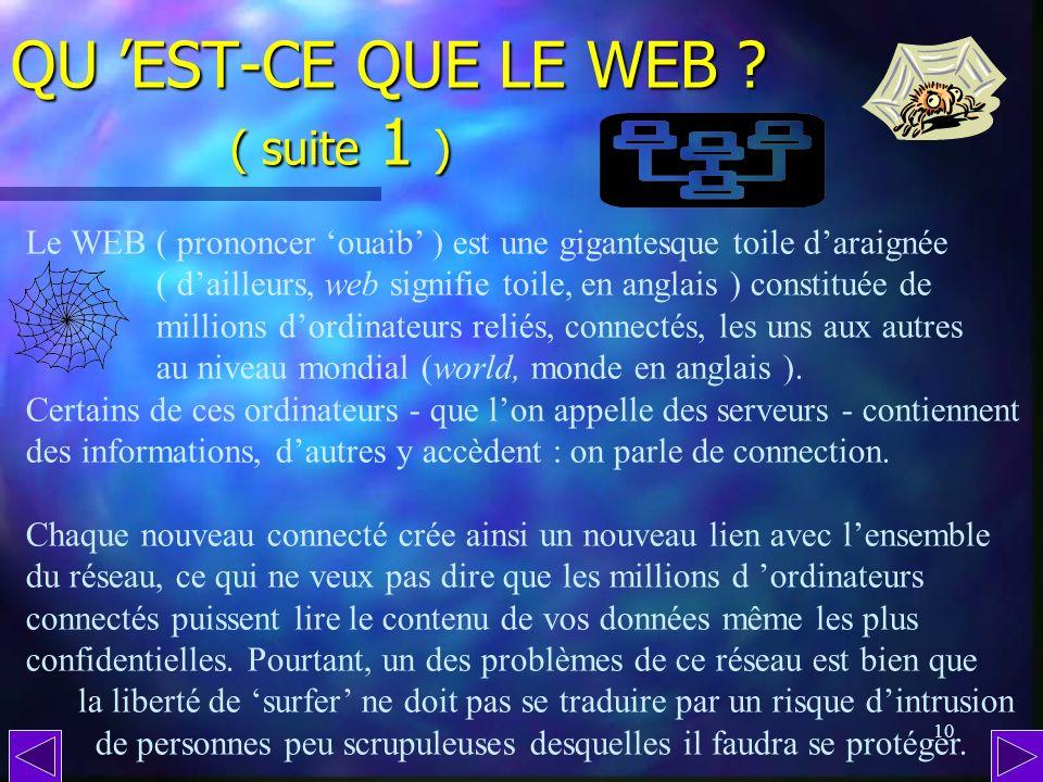QU 'EST-CE QUE LE WEB ( suite 1 )