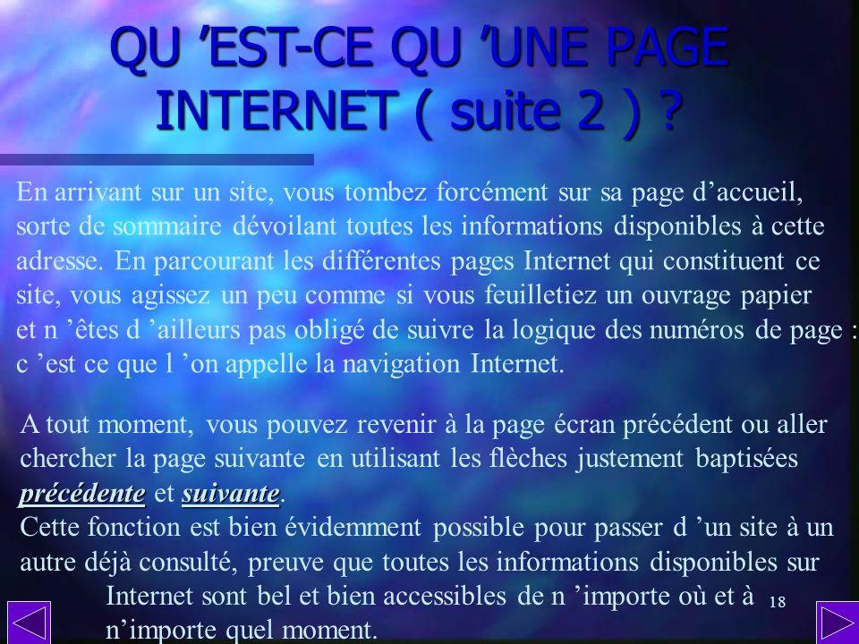 QU 'EST-CE QU 'UNE PAGE INTERNET ( suite 2 )