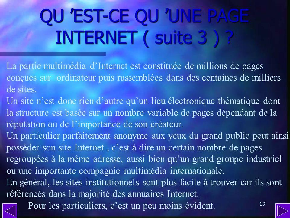 QU 'EST-CE QU 'UNE PAGE INTERNET ( suite 3 )