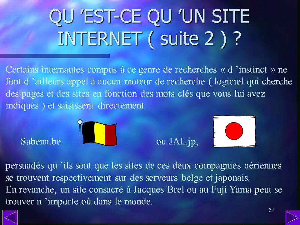 QU 'EST-CE QU 'UN SITE INTERNET ( suite 2 )