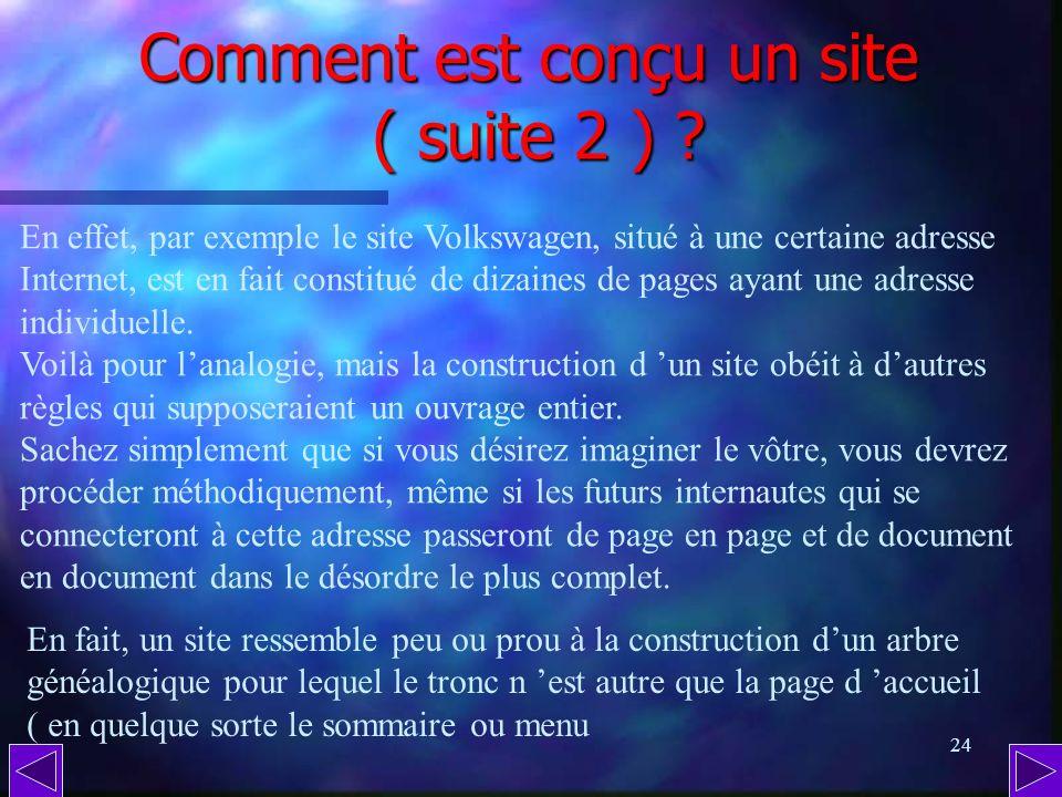 Comment est conçu un site ( suite 2 )