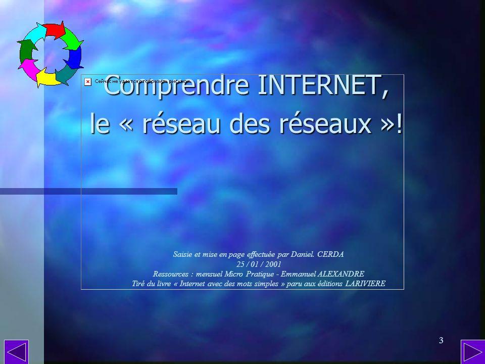 Comprendre INTERNET, le « réseau des réseaux »!